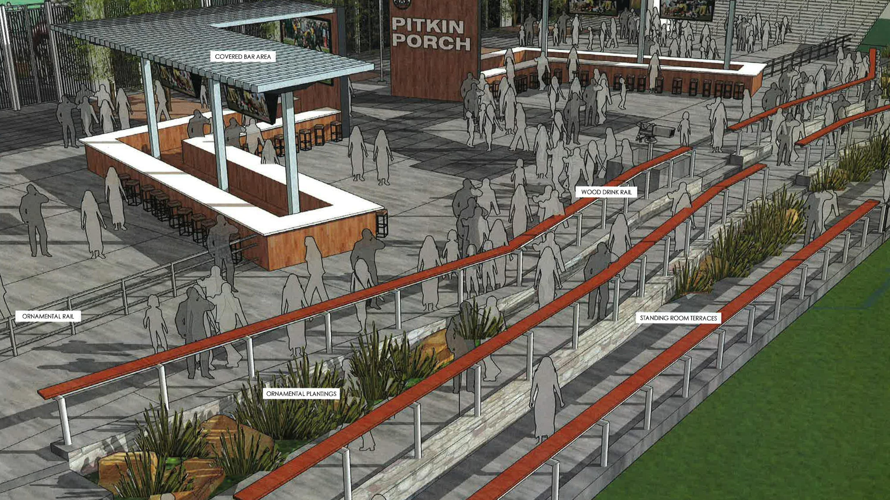 Plans offer glimpse at csu stadium 39 s party deck for Colorado plan