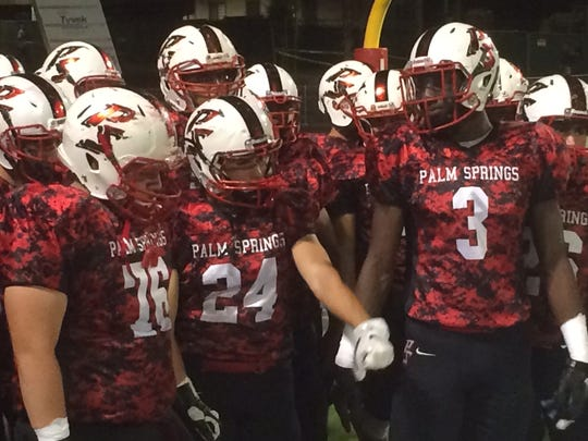 Palm Springs came out of the locker room with new uniforms for its game against La Quinta.