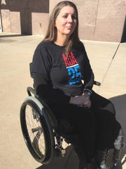 Jennifer Longdon, who was paralyzed in a shooting several