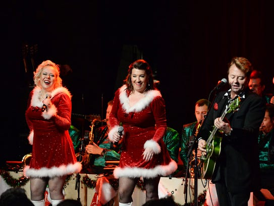 "Brian Setzer performs a ""Christmas Rocks"" concert for"