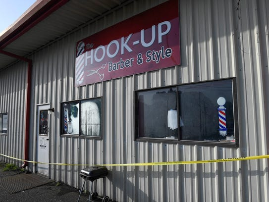 The Hook Up, the scene of an overnight shooting, in