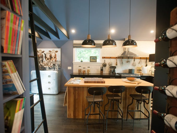 The kitchen of the HGTV Urban Oasis house in West Asheville