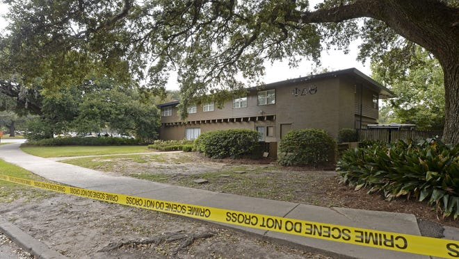 Louisiana State University Police are investigating a possible hazing incident at an on campus fraternity house, Phi Delta Theta, after a student was brought to the hospital overnight and later died, Thursday, Sept. 14, 2017, in Baton Rouge, La.  Phi Delta Theta has been suspended by the university and its national chapter, according to LSU president F. King Alexander.