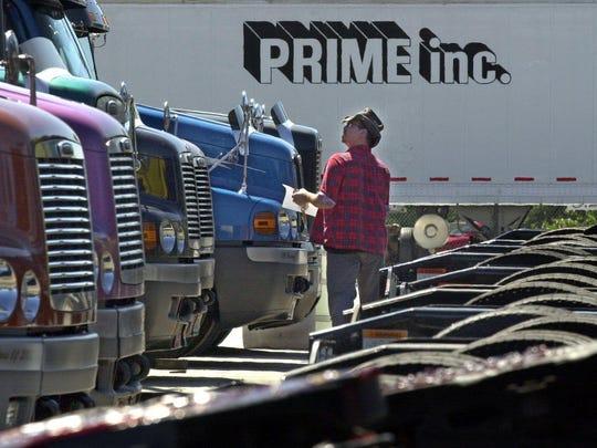 A Prime Inc. truck driver.