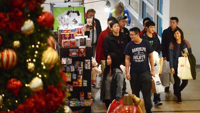 Shoppers at Willowbrook Mall in Wayne on Black Friday 2015.