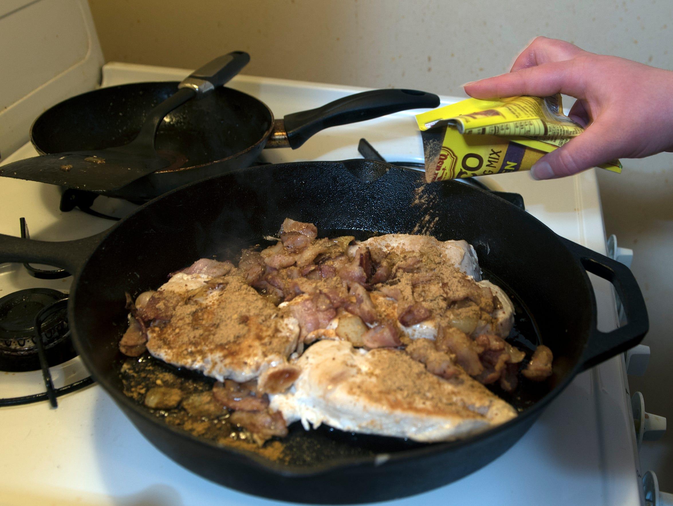 Heather Adams of Waynesboro cooks a healthy  meal.