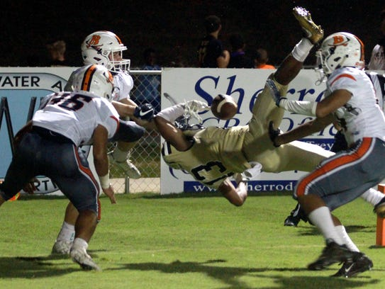 The Beech defense breaks up the bid for a TD by Springfield's