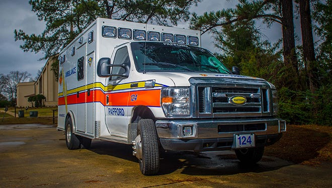 A Pafford ambulance is shown in this file photo.