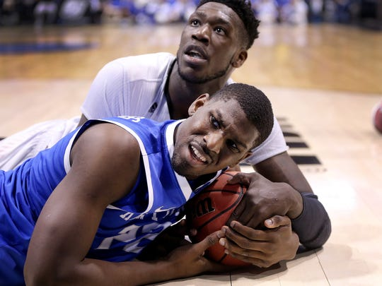 Former University of Kentucky star Alex Poythress competes