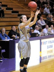 Hardin-Simmons guard Danie Mabry (14) takes a 3-point