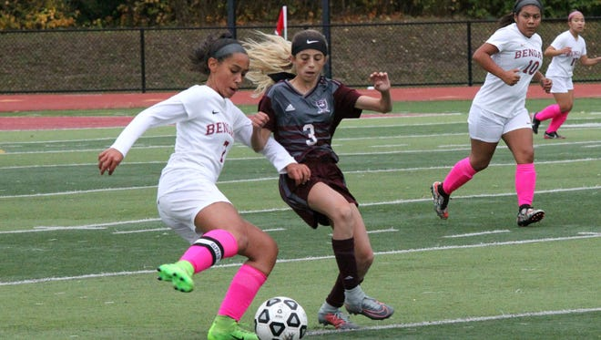 Sam Gabriele (3) had two assists for Nutley in a 2-1 win over Bloomfield.