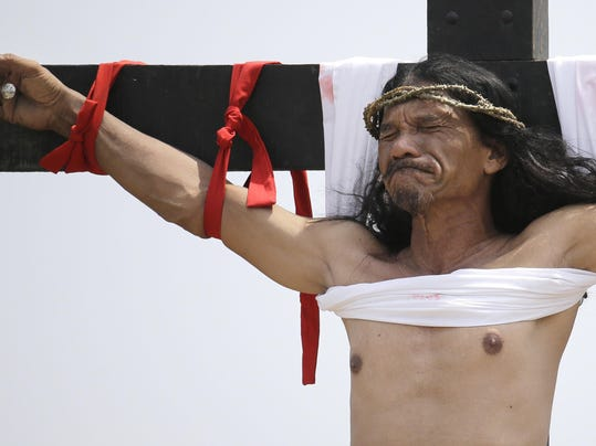 Philippines Crucifixion Reenactment