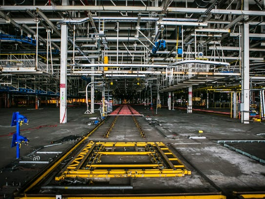 Inside the former General Motors plant on Boxwood Road.