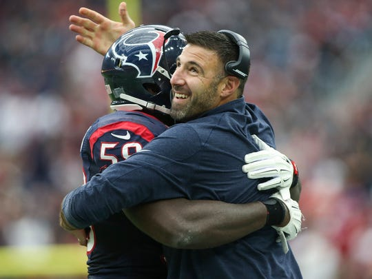 Mike Vrabel spent three seasons as Houston's linebackers coach.