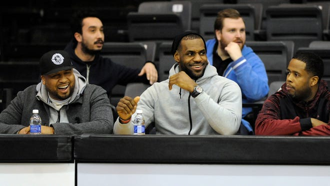LeBron James at the Oakland basketball game against Cleveland State on Jan. 26, 2015, in Rochester.