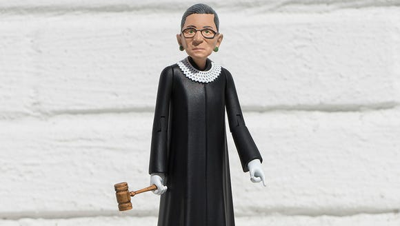 A prototype of the Ruth Bader Ginsburg action figure