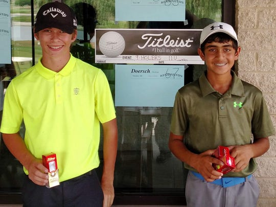 The Taylor Meadows Junior Open top finishers included