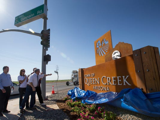 Queen Creek 25th anniversary sign