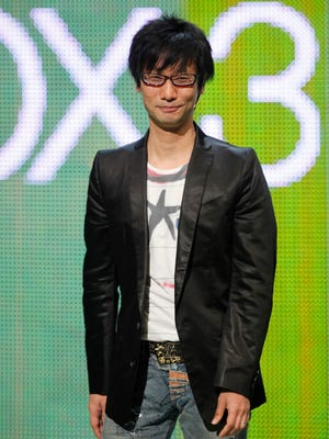 Game designer Hideo Kojima appears during the Xbox media event at the Electronic Entertainment Expo in 2009.