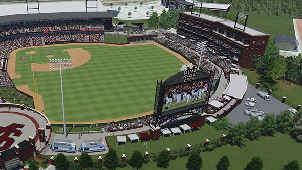 Mississippi State announced Thursday it will build college baseball's largest video board.