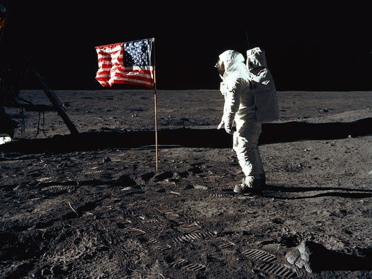 On July 20, 1969, astronaut Buzz Aldrin, lunar module