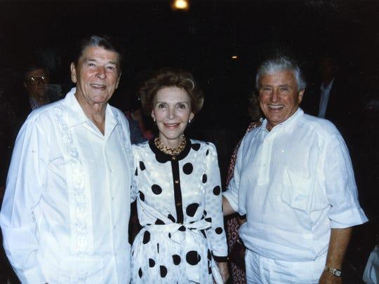 Ronald Reagan, Nancy Reagan and Merv Griffin.