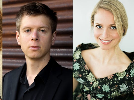 Vocalists Jazimina MacNeil, Andrew Munn and Mary Bonhag take part in Scrag Mountain Music's concerts this weekend.