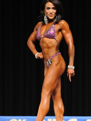 Figure athlete Desiree Reel competes at the National Physique Committee National Championships at the James L. Knight Center in Miami in November.