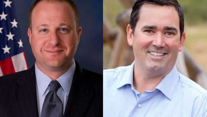 Rep. Jared Polis, left, a Democrat, and state Treasurer Walker Stapleton, Republican, are the two major party candidates running for Colorado governor in November 2018.