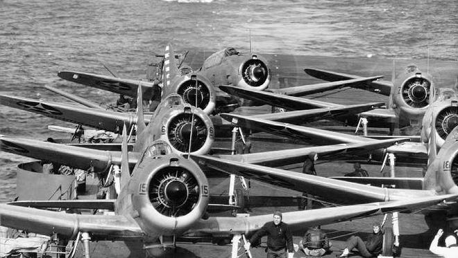 A squadron of 16 B-25 bombers launched from the flight deck of the USS Hornet on April 18, 1942, a mission that came to be known as the Doolittle Raid.