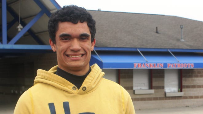 Livonia Franklin senior Nathan Rodgers competes for the school's track-and-field and baseball teams in the spring.