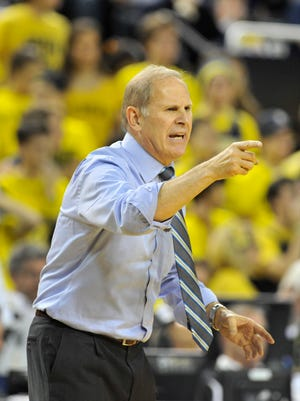 """Michigan coach John Beilein said that senior guard Caris LeVert """"is not ready"""" to return to action yet."""