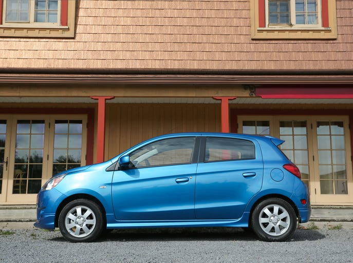 The 2014 Mitsubishi Mirage ES.