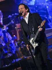 """Eddie Vedder performs on Monday's episode of """"Late Show."""""""