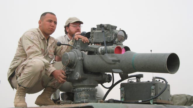 A TOW missile with a U.S. military unit in Kuwait in advance of the 2003 invasion. (An earlier version of this photo information misidentified the location of the photo.)