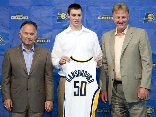 Head coach Jim O'Brien, left, and Pacers' President