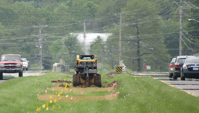 Roadscapes Project prep work begins in median near the intersection of Highway 100 and Highway 96 North.