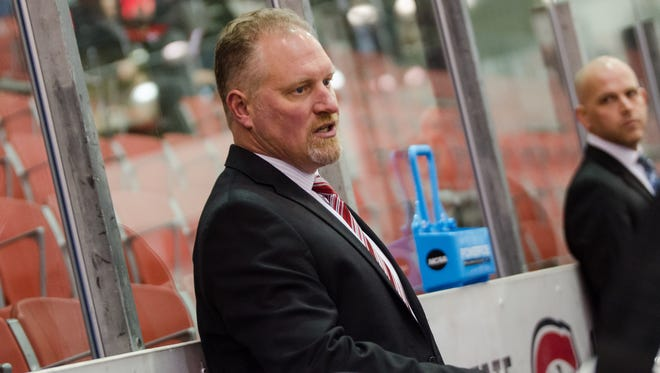 Eric Rud is in his fourth season as the head coach of the St. Cloud State women's hockey team. He spent five seasons as an assistant coach for the Huskies' men's hockey team.