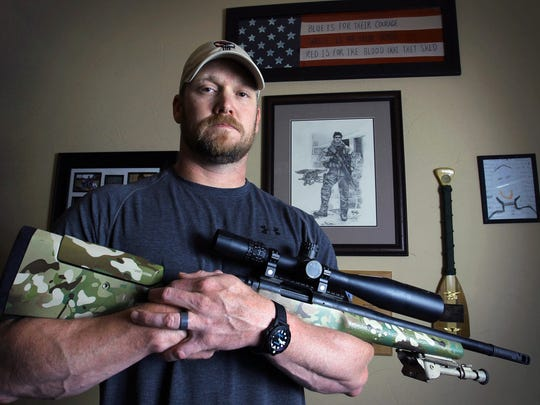 "Former Navy SEAL and author of the book ""American Sniper"""