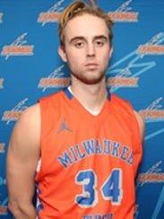 Will Kellerman poses in his MATC basketball uniform.
