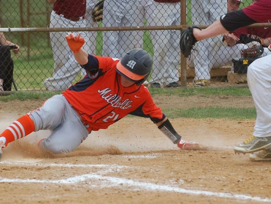 Millville -- Hunter Sibley scores on wildpitch in sixth