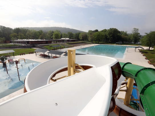 A view of the redesigned pool complex at Rockland Lake