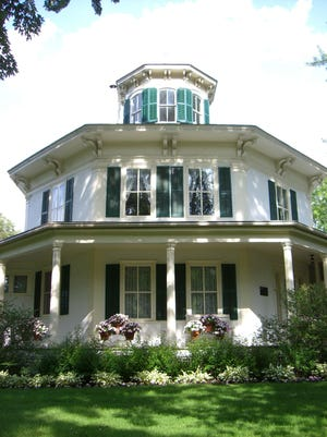 The Octagon House Museum is a landmark in Hudson.