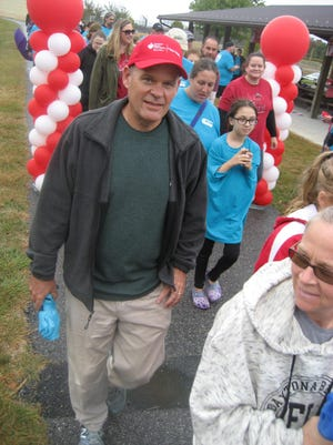 The Mason Dixon Heart Walk was held last year at Antrim Township Community Park. This year's American Heart Association fundraiser has become a 'Walk Where You Are' event from Sept. 1 to 30. SHAWN HARDY/THE RECORD HERALD