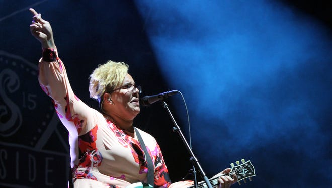 Opening day for the 2015 Gentlemen of the Road festival held along Seaside Heights Boardwalk on Friday June 5,2015.Alabama Shakes the main headliner on the stage for night number 1 of the two day festival.