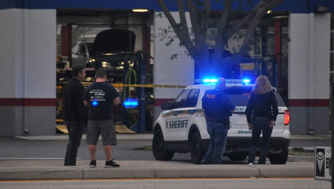 Police and BCSO responded to a shooting at Schlenker's Automotive in Rocklege on Barton Blvd late Friday afternoon. Cocoa police assisted with the perimeter.