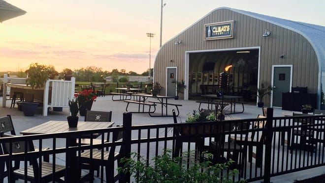 Cleats Bar and Grille at Hope Sports Complex is known for its airplane hangar, along with reasonably priced burgers, sandwiches, beer and wine.