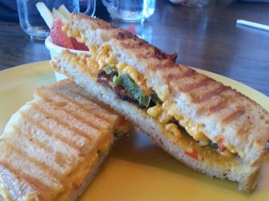 Grilled pimento cheese and bacon at Goozy