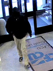 Deputies are searching for this credit union robbery suspect.