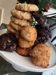 Some of the gluten-free cookies at Erie Coffeeshop